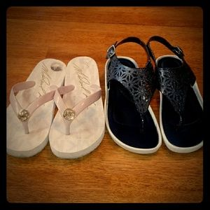 2 pair womens size 7 sandles